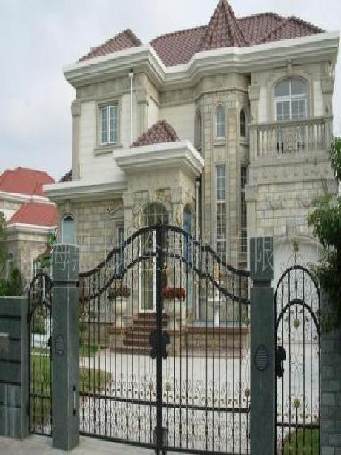 别墅铁艺门围栏