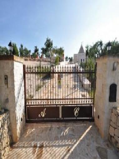 别墅矮墙铁艺门