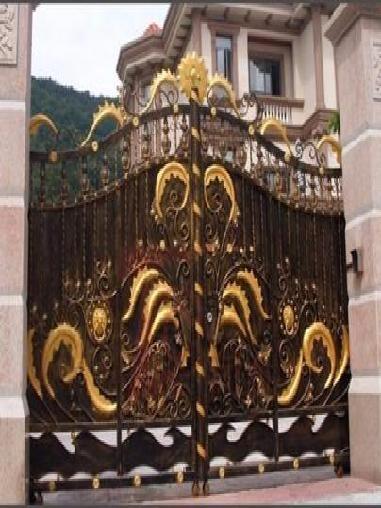别墅铁艺弧形折叠门