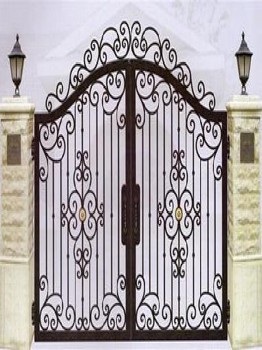 别墅铁艺门的地锁