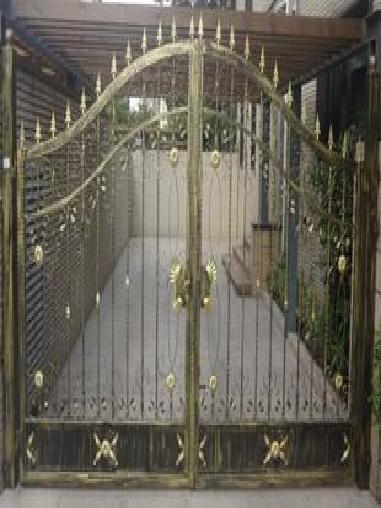 别墅花园铁艺门图片